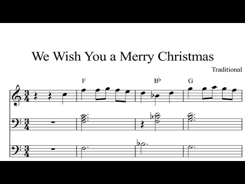 We Wish You A Merry Christmas: CHRISTMAS SHEET MUSIC Piano Organ & Keyboard Book 1