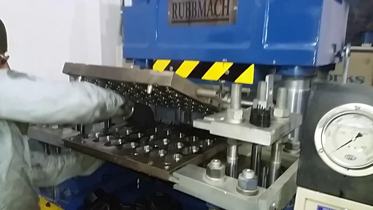 rubber moulding 4rt 200 Ton hydraulic press piller typeRUBBMACH