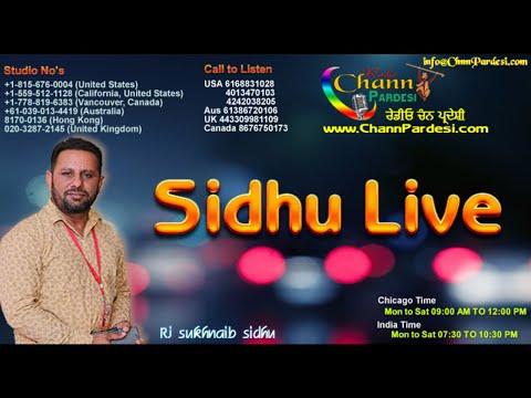 Sukhnaib Sidhu Show  12 June 2018 Sukhwinder Singh Kaka |Chann Pardesi Radio|Chicago|Radio Show