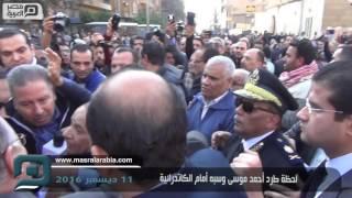 مصر العربية | لحظة طرد أحمد موسى وسبه أمام الكاتدرائية