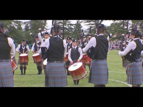 Boghall & Bathgate Pipe Band in 2017 European Championships at Forres
