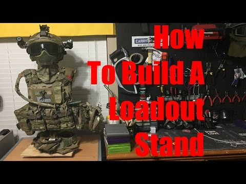 HOW TO MAKE A LOADOUT STAND | Airsoft
