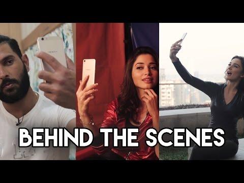 Yuvraj, Tamannah, Amy Jackson | Behind The Scenes | OPPO Selfie Expert Shoot #ILikeSelfieExpert
