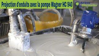 Pulvérisation d'enduits avec la pompe Wagner HeavyCoat 940