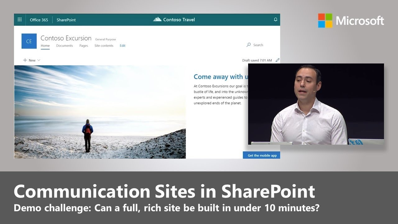 New Communication Sites in SharePoint: How to build an impactful site in  under 10 minutes