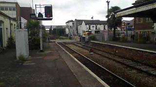 Paignton level crossing and station (with hybrid train)