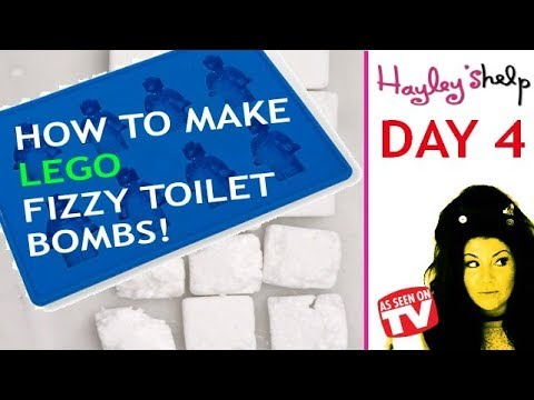 """How To Make Your Own Homemade LEGO Toilet Fizzy Cleaning Bomb ♥♥ Hayley Leitch """"Hayley's Help"""""""