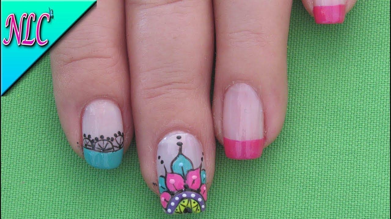 Decoracion de u as mandalas mandalas nail art como - Decoracion unas faciles ...
