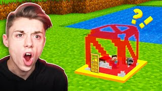 Building a Minecraft House INSIDE a BARRIER BLOCK!