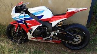 Motorbike crash   Snetterton 06.09.2015
