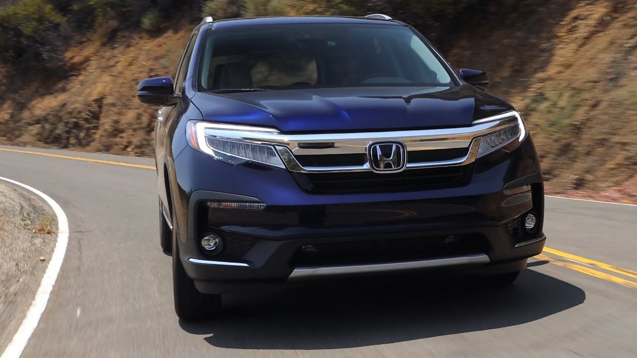 2019 Honda Pilot Elite AWD | Obsidian Blue Pearl | Driving ...