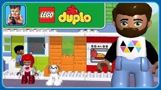 ЛЕГО ДУПЛО Городок * LEGO DUPLO Town * Строим уютные семейные домики * мультик игра для малышей