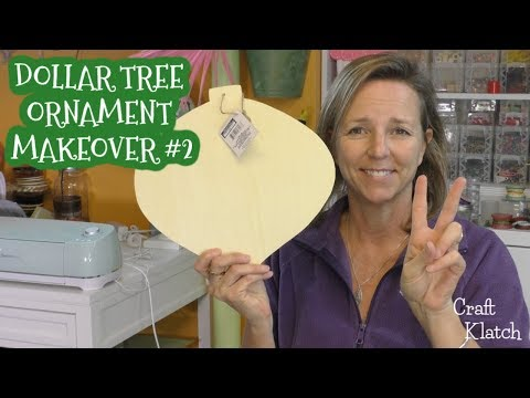 Dollar Tree Ornament Makeover #2: Glam Merry and Bright | Christmas Craft Ideas | Craft Klatch
