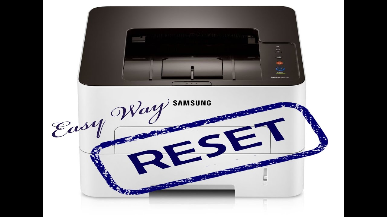 Reset Samsung SL M 2620 2625 2820 2825 2830 2835 3320ND 3325ND 3820D 3825D  fix firmware easy way