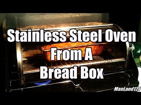 Improvised BushCraft Rain, Tarp, Hammock, and a DIY Bread Box Stainless Steel Oven