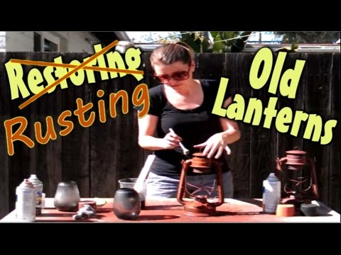 Make Metal Look Old & Rusty | Paint To Look Like Rusted Metal | Antique Look For New Lanterns