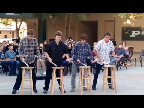 "Poway High School Snareline- ""Stool Pigeon"" Percussion Performance"