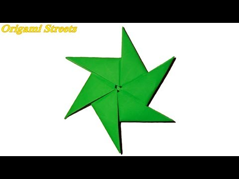 How to make ninja star out of paper. Origami TOY shuriken out of paper