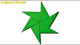 Как сделать звёздочку ниндзя из бумаги. Оригами сюрикен