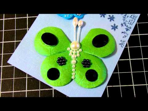 Altered Flat Mulberry Paper Flowers.wmv