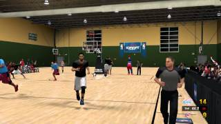 Coach View LACvWAS CPUvCPU - NBA Street 2K14 Mod for PC (Raw Gameplay)