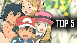 Top 5 Moments Between Ash & Serena  - Pokemon XY Anime