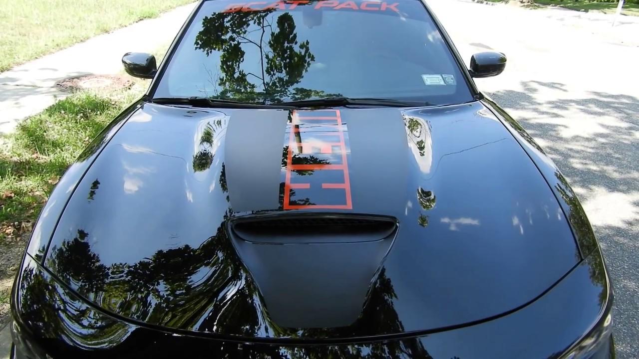 Vinyl decals hood wrap installation dodge charger r t hemi 392 scat pack srt