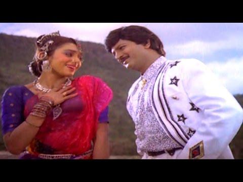Konda Meeda Chukkapotu Full Video Song || Alludugaru Movie || Mohan Babu, Shobana, Ramya Krishnan,