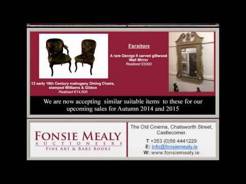 Fonsie Mealy Fine Art Auctioneers | Looking for Consignments from County Clare +353 (0)56 4441229