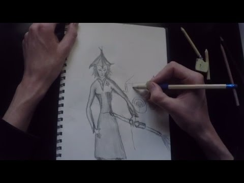 how to sketch a witch [halloween drawing][master of arts]