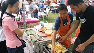 Asian food in tay muang market - thai street food