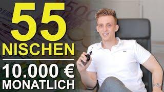55 Nischen für 10.000 Euro monatlich als Coach, Berater, Trainer oder Experte