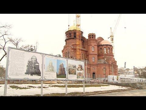 Строящийся храм Александра Невского поднялся уже на 28 метров