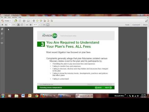 """Extra Help Workplace Xcellence Webinar """"Retirement Plan Provider..What are your Liabilities?"""""""