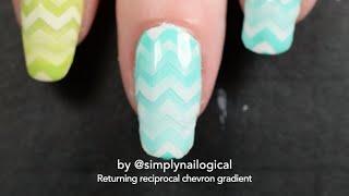 Returning reciprocal chevron gradient tutorial - Turquoise & green