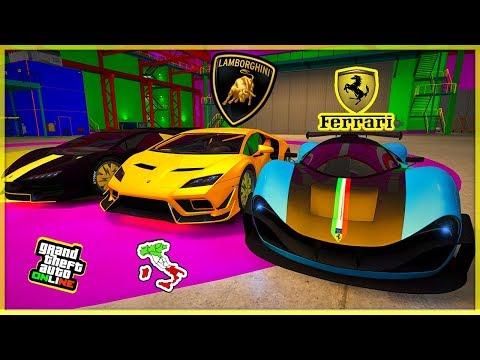 TUTTE LE AUTO ITALIANE SUPER & SPORTIVE DI GTA 5 ONLINE con Alphyx (GTA 5 Online ITA)