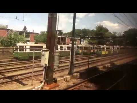MBTA Green Line Light Rail D Branch Riverside Station to Lechmere Station 7/11-16/16 HD