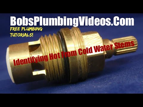 How to Identify Hot From Cold Water Faucet Stems