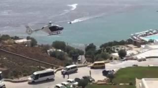 EC 135 Mykonos landing HB ZPQ