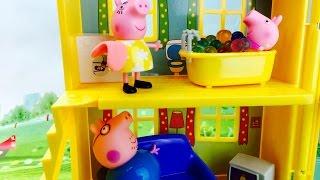 Свинка Пе купается в Орбиз в новом домике Мультики для детей Pe Pig takes bath in Orbeez