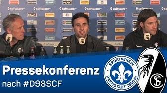 Darmstadt 98 | Pressekonferenz nach dem Heimspiel gegen SC Freiburg