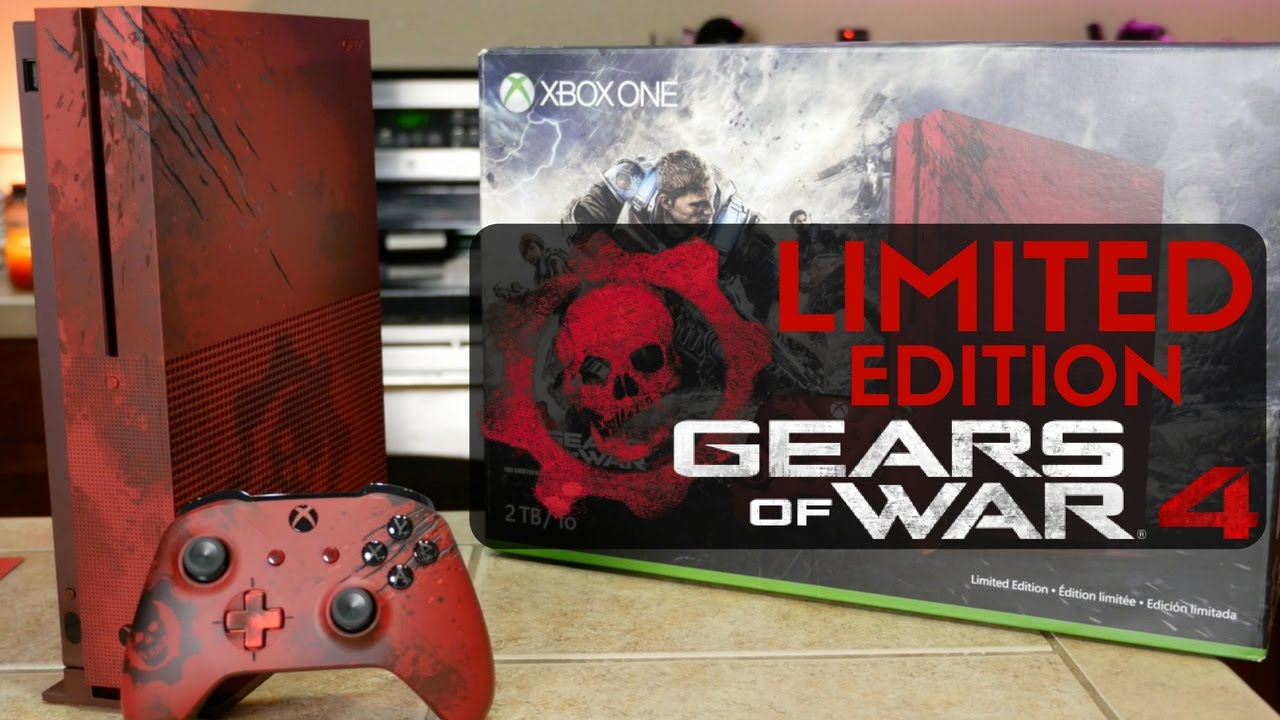 Xbox One S Gears of War 4 Edition Unboxing & Overview!