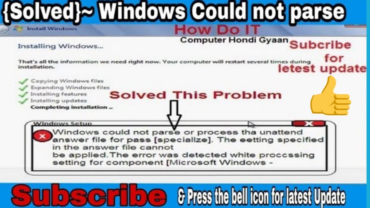 Unattend Xml File And Error Message Windows Could Not – Dibujos Para