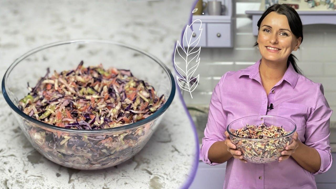 САЛАТ КОУЛ СЛОУ 🥗 Вкусный и ПОЛЕЗНЫЙ салат из капусты 😋 Готовим дома с Лизой Глинской 🙂