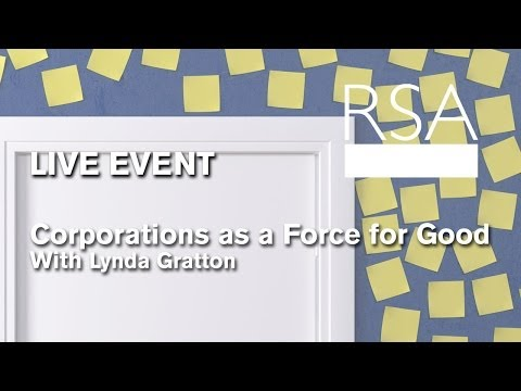 RSA REPLAY: Corporations as a Force for Good