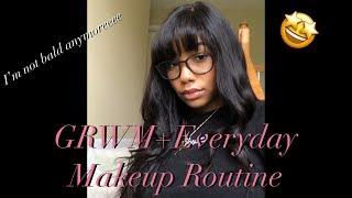 GRWM Everyday Makeup Tutorial| JINRI Flat Iron Review