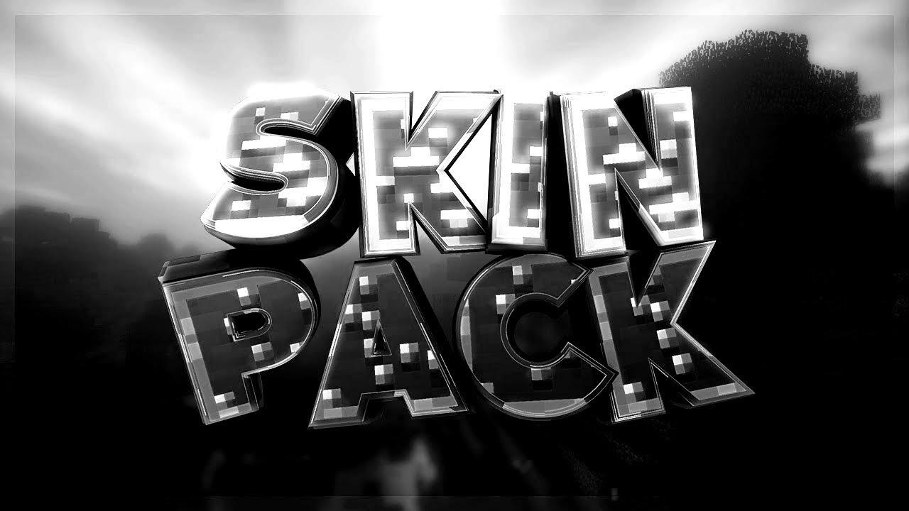 MINECRAFT SKIN PACK  BLACK & WHITE EDITION  +DOWNLOAD  PvP