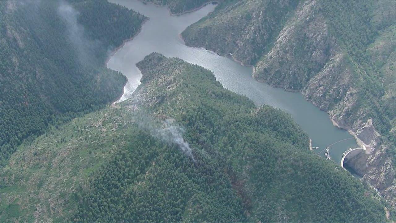 Smoke near strontia springs reservoir in waterton canyon for Waterton canyon fishing report