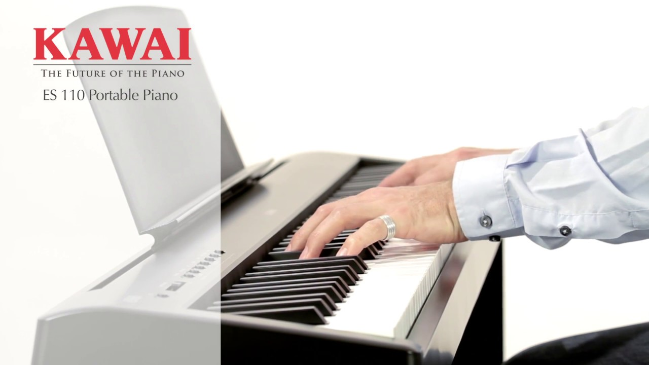 kawai es110 digital piano demo english youtube. Black Bedroom Furniture Sets. Home Design Ideas