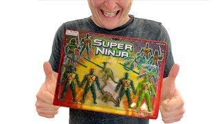 Unboxing Super Ninja Action Figures + BONUS!